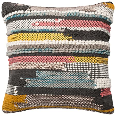 Loloi Loloi-DSETP0094ML00PIL3-Multi Decorative Accent Pillow Mostly Cotton Wool Cover with Down Fill 22 x 22 , 22 x 22 , Multicolor