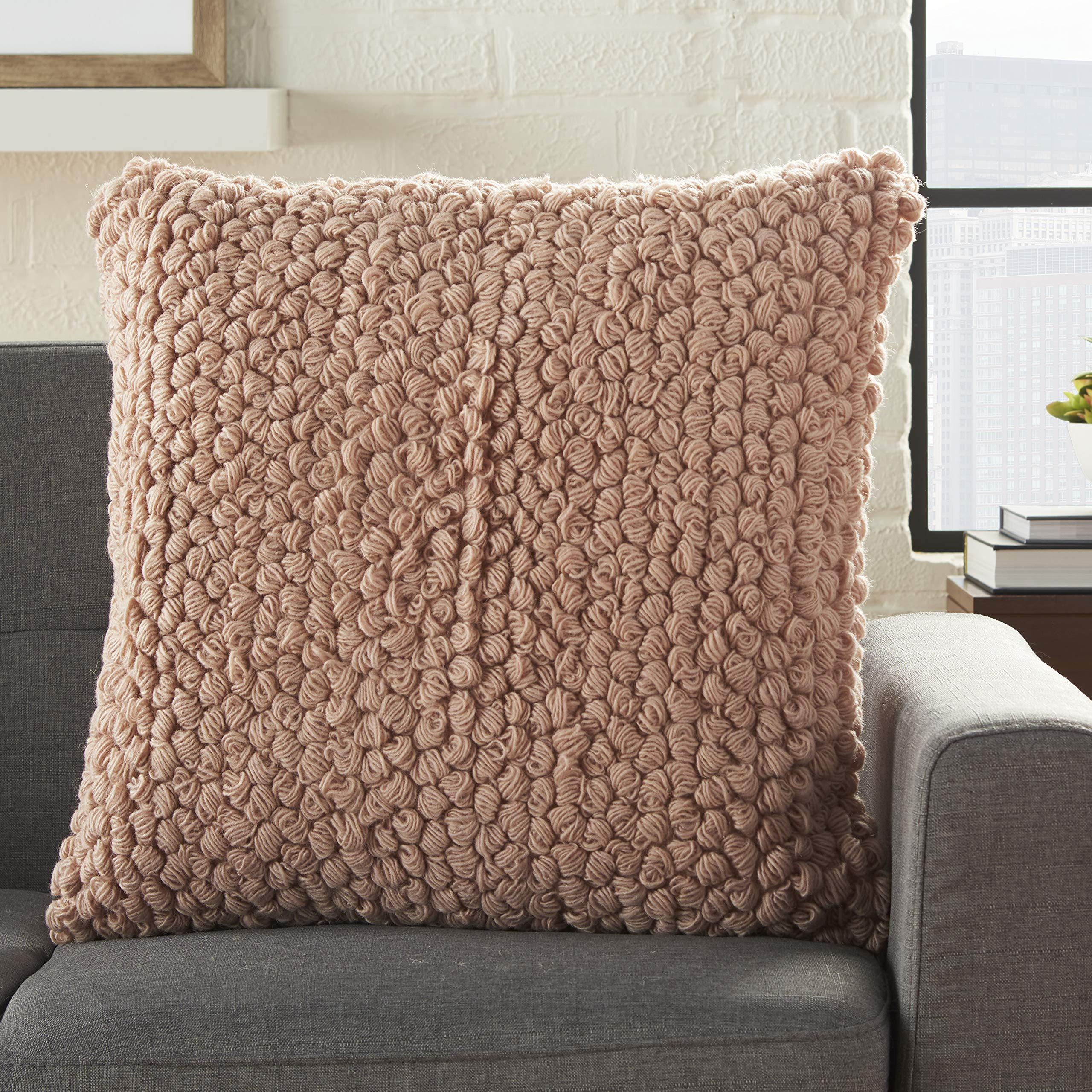 Mina Victory Life Styles Blush Thin Group Loops Throw Pillow 20'' x 20''