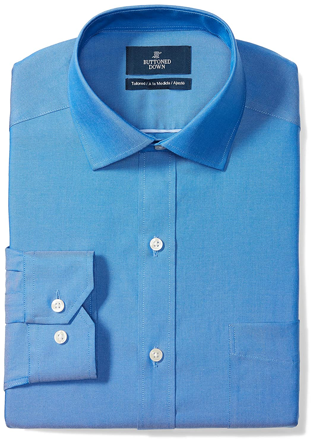 Buttoned Down Men's Tailored Fit Spread-Collar Solid Non-Iron Dress Shirt MBD30027