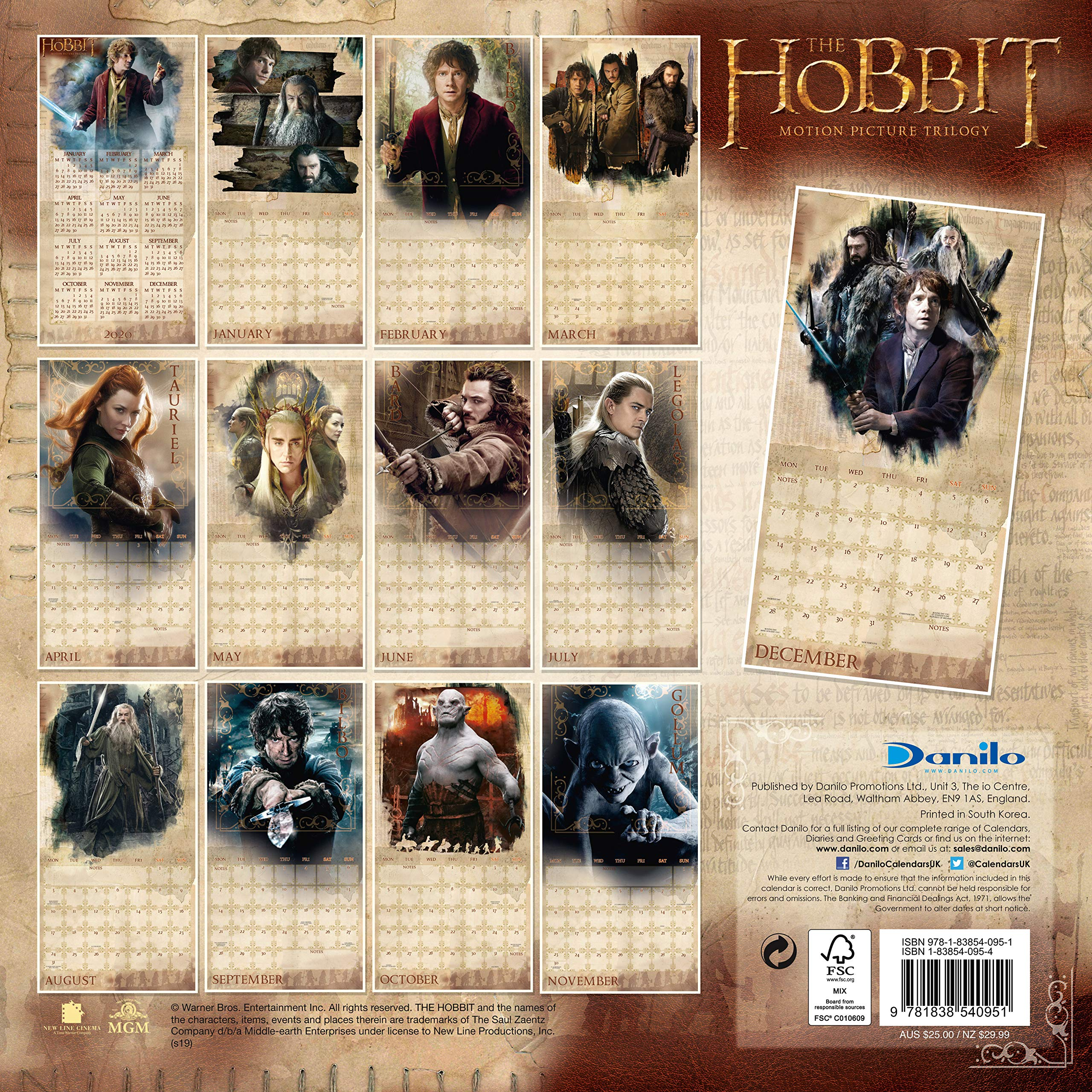 The Hobbit Lord Of The Rings 2020 Calendar Official Square Wall Format Calendar The Hobbit Lord Of The Rings 9781838540951 Amazon Com Books