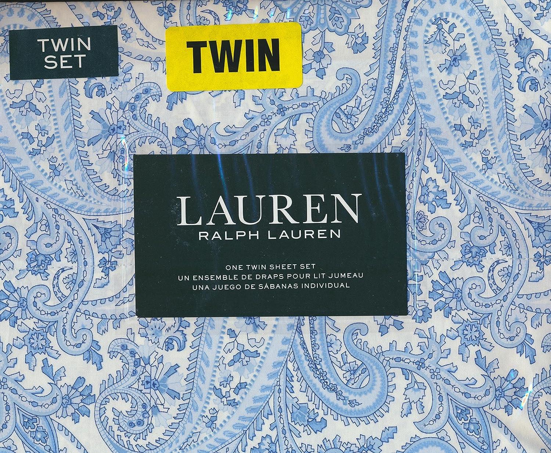 Amazon.com: Lauren Ralph Lauren Twin Size 3 Piece Sheet Set - 100 ...