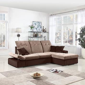 Amazon Com Classic Large Brush Microfiber L Shape Sectional Sofa