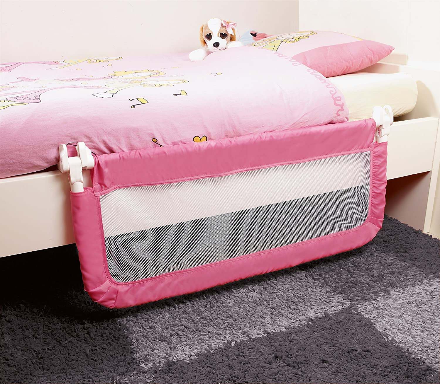 Safety 1st Portable Bed Rail Pink Amazoncouk Baby