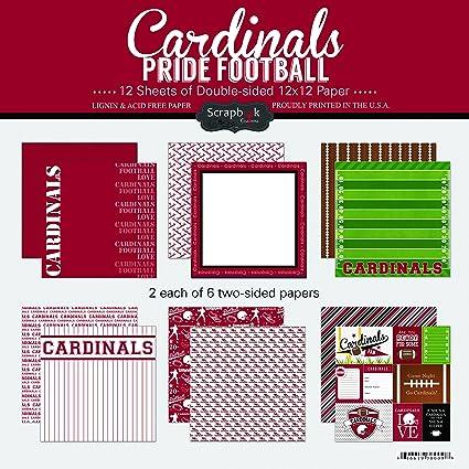 amazon com scrapbook customs cardinals pride football scrapbook kit