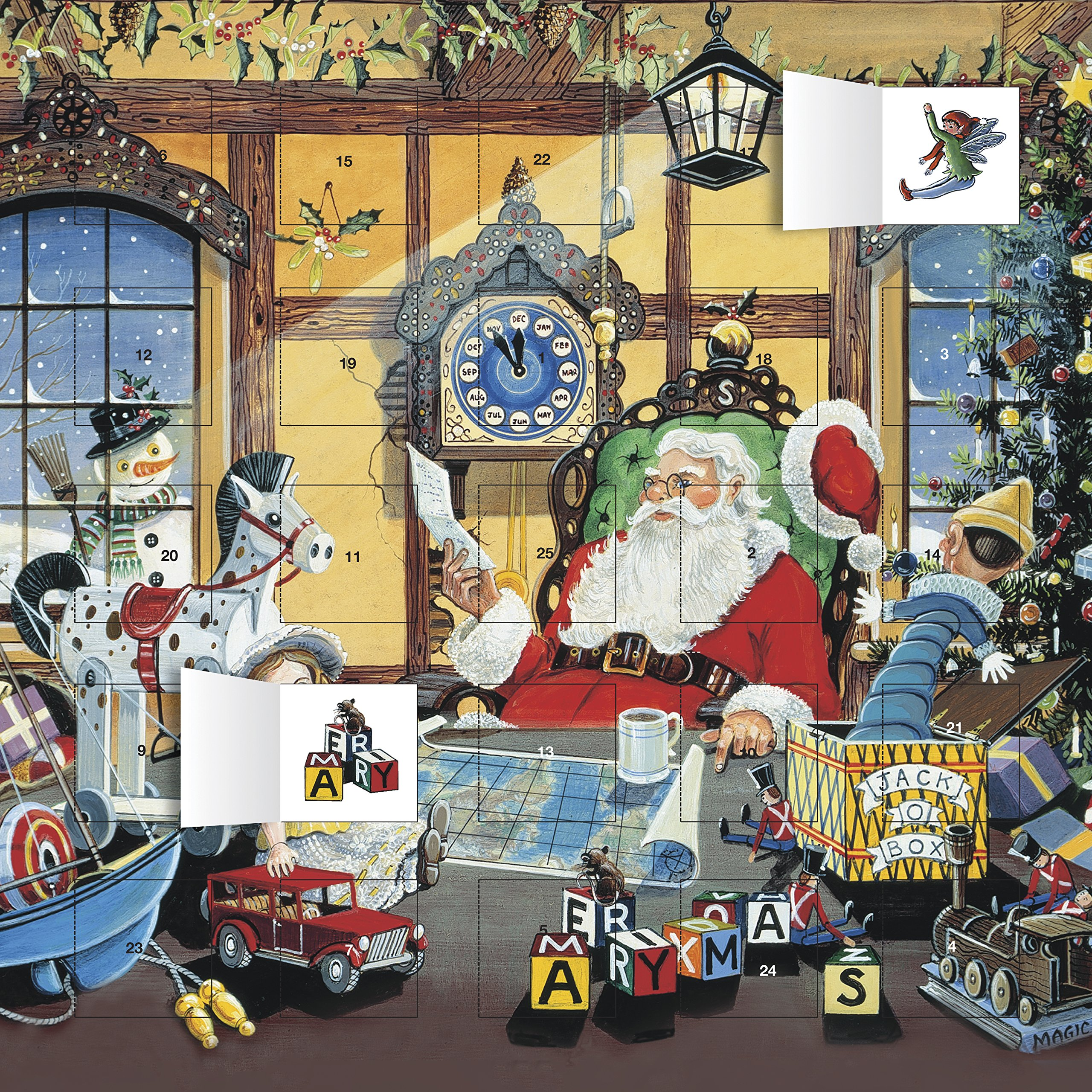Letter To Santa Advent Calendar  With Stickers   Flame Tree Calendars 2015