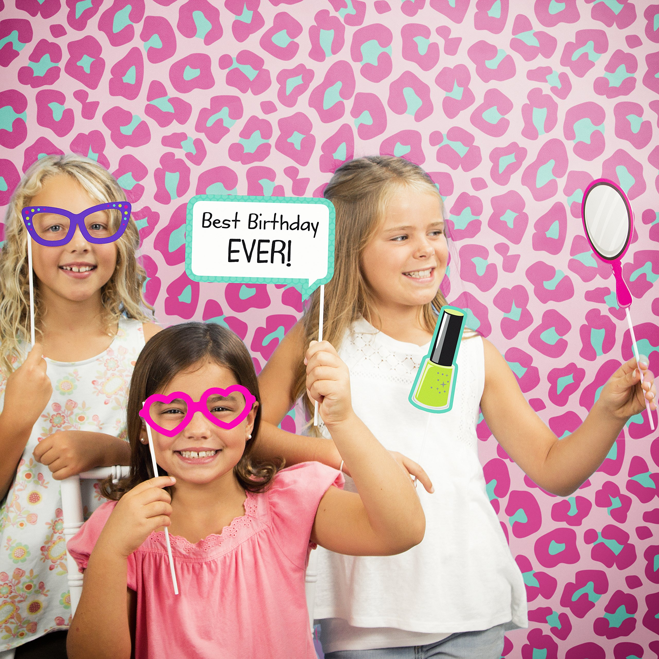 Sparkle Spa Party Photo Booth Kit by Creative Converting (Image #1)