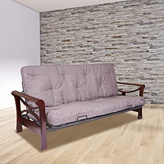 product image for WOLF Serta Chestnut Double Sided Foam and Cotton Futon Mattress, Full, Marmor, Made in The USA