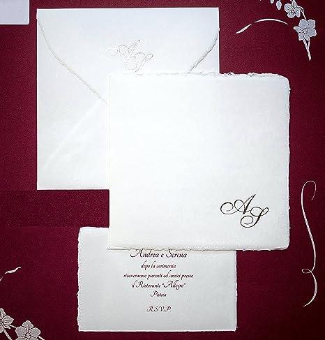 Partecipazioni Carta Amalfi cod. 9 Produzione Artigianale Set