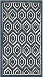 "Safavieh Courtyard Collection CY6902-268 Navy and Beige Indoor/ Outdoor Area Rug (2' x 3'7"")"