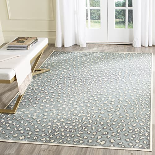 Safavieh Paradise Collection PAR84-241 Cream and Spruce Viscose Area Rug 5 3 x 7 6