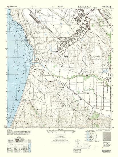 Amazon Com Topographic Map Surf California Sheet Army 1947 23