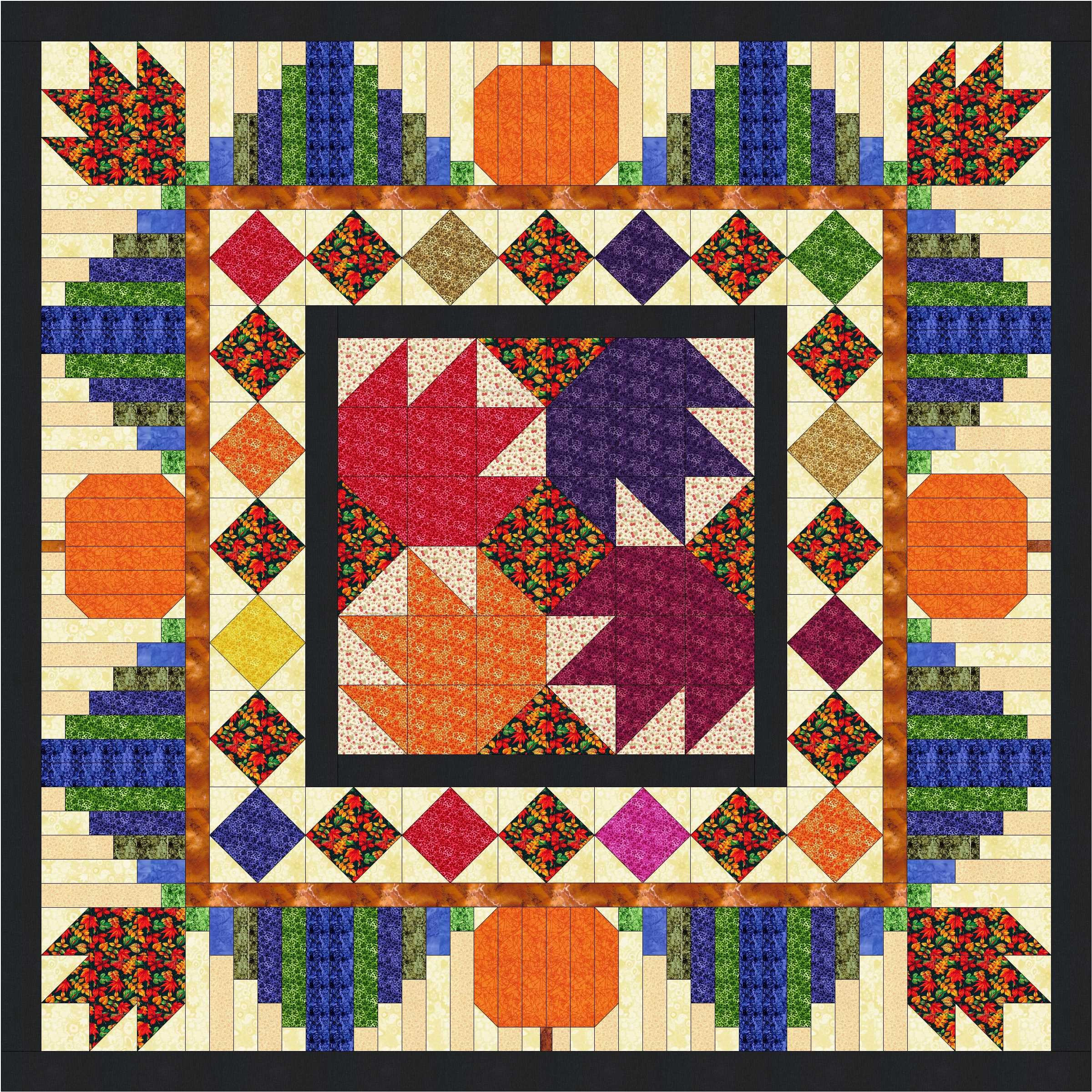Quilt Kit Autumn Jewels by Material Maven