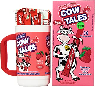product image for Goetze's Cow Tales Candy Tumbler, Strawberry, 100 Count