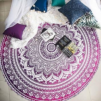 Amazon.com: Folkulture Mandala - Tapiz redondo hippie indio ...
