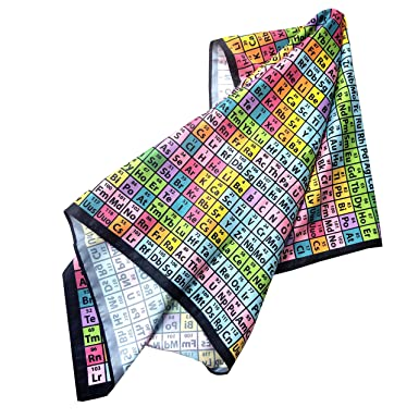 Periodic Table Of Elements Chemistry Silk Scarf 28 X 25 At Amazon