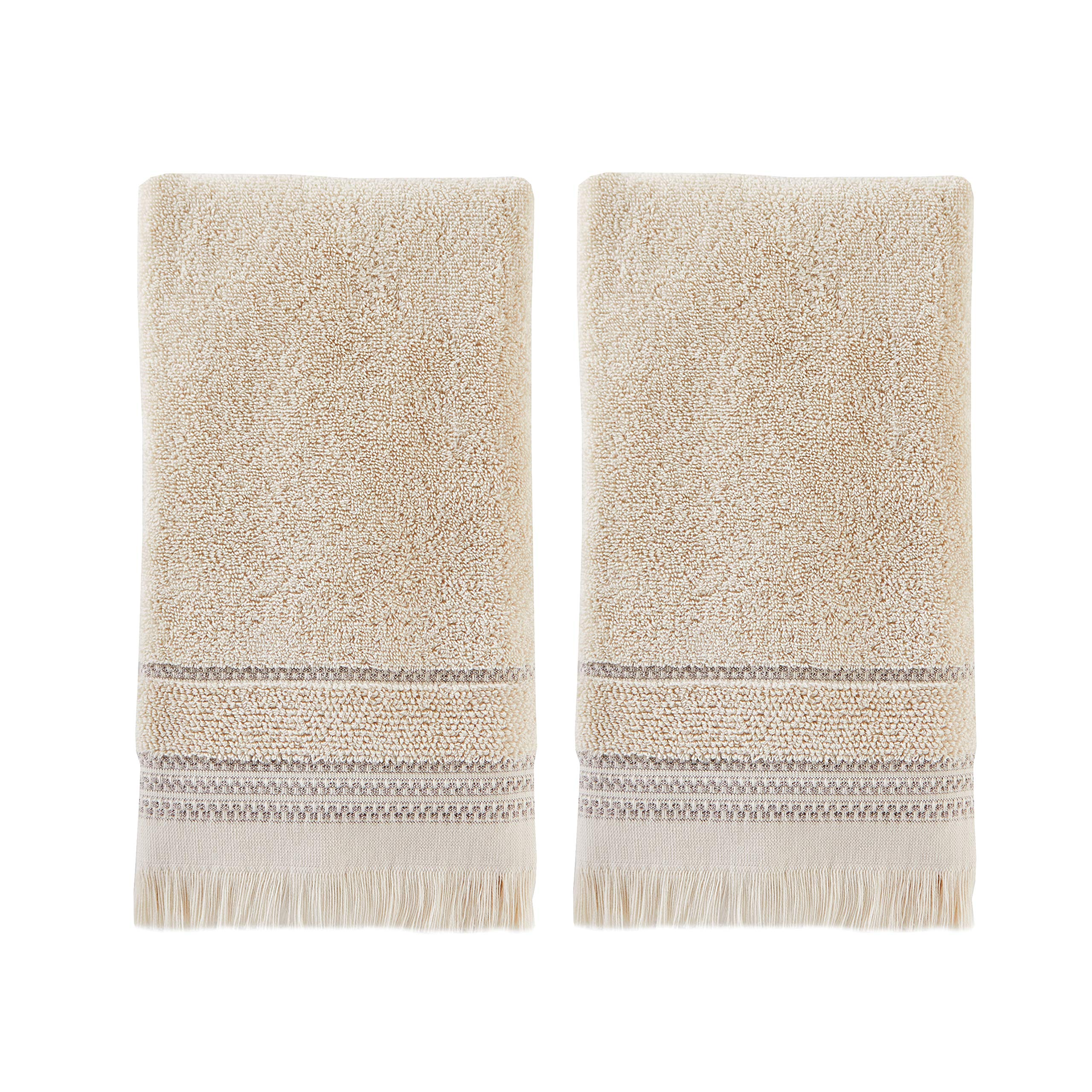 SKL Home by Saturday Knight Ltd.  Jude Fringe 2-Piece Hand Towel Set, Taupe