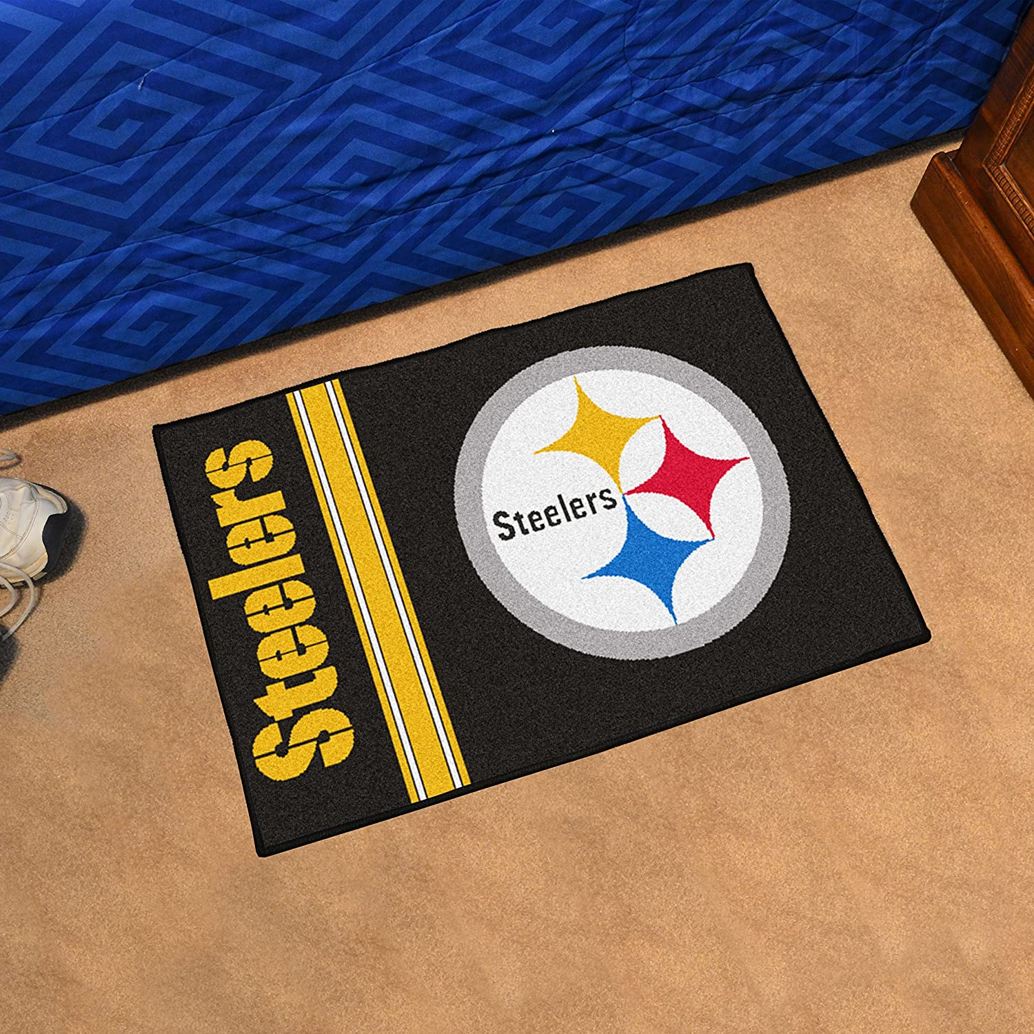 Amazon.com: FANMATS NFL Pittsburgh Steelers Nylon Face Starter Rug:  Automotive
