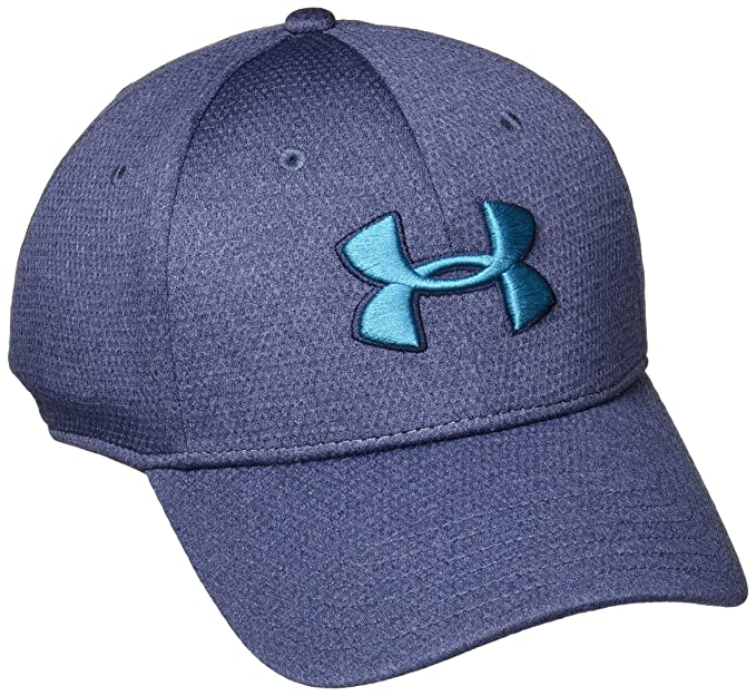the best attitude 853d4 5af22 Under Armour Men s Heathered Blitzing Cap, Midnight Navy Bayou Blue, Large X