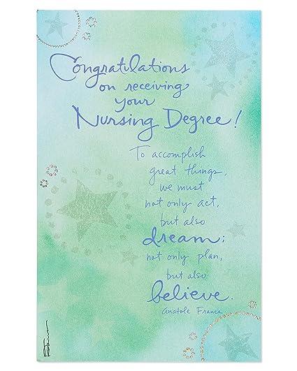 American Greetings Nursing Degree Graduation Card With Foil