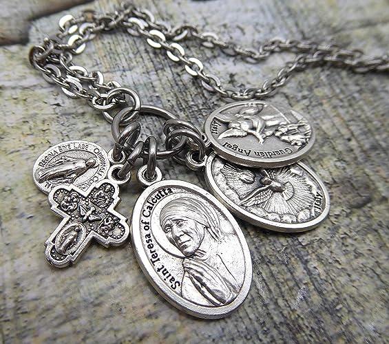 Amazon.com  St. Teresa of Calcutta Charm Necklace or Keychain ... 2adc71419