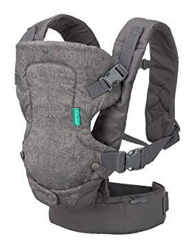 5b51f47b15c5 Infantino Flip Advanced 4-in-1 Convertible Carrier, Light Grey  Amazon.ca   Baby