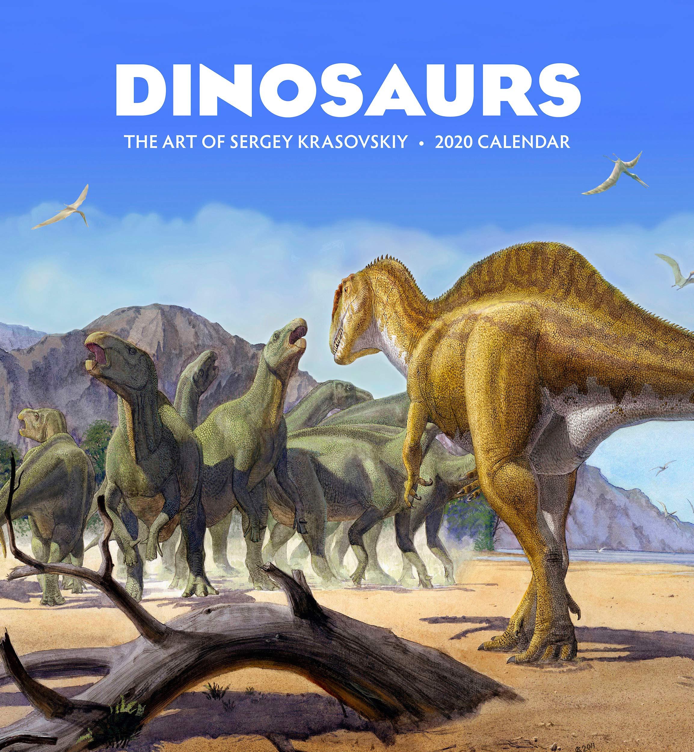 Dinosaurs: The Art of Sergey Krasovskiy 2020 Wall Calendar by Pomegranate