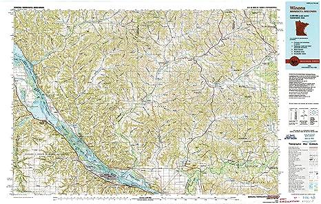 Amazon Com Yellowmaps Winona Mn Topo Map 1 100000 Scale 30 X 60