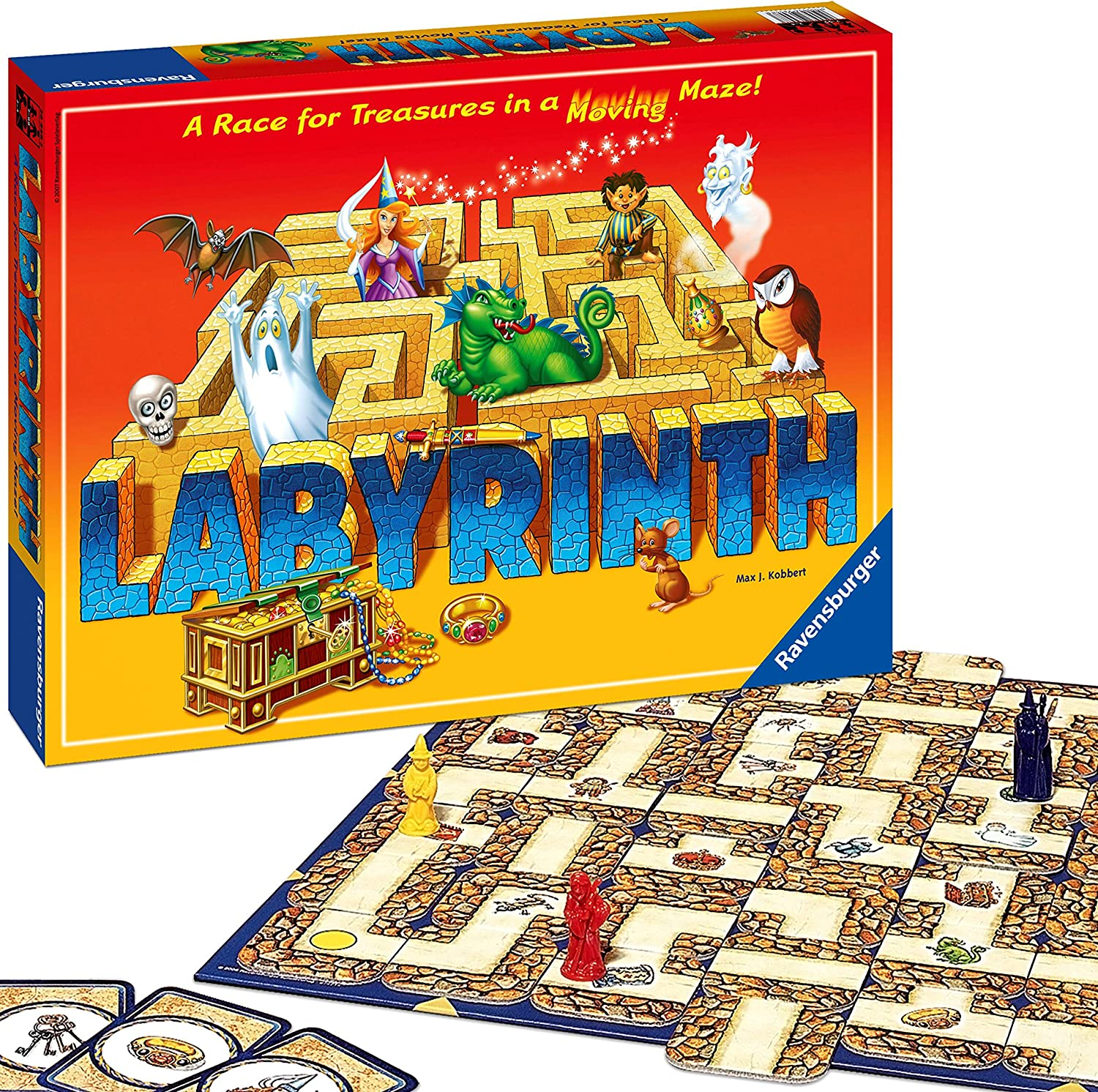 Labyrinth dyslexia board game