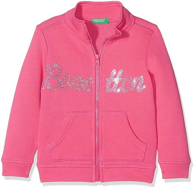 United Colors of Benetton Jacket, Chaqueta para Niñas, Rosa (Magenta 32u),