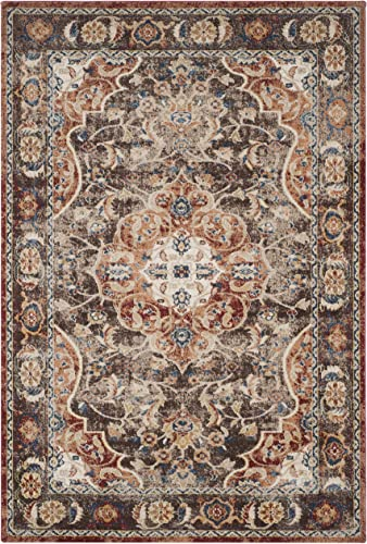 Safavieh Bijar Collection BIJ648D Traditional Oriental Vintage Brown and Rust Area Rug 6'7″ x 9'