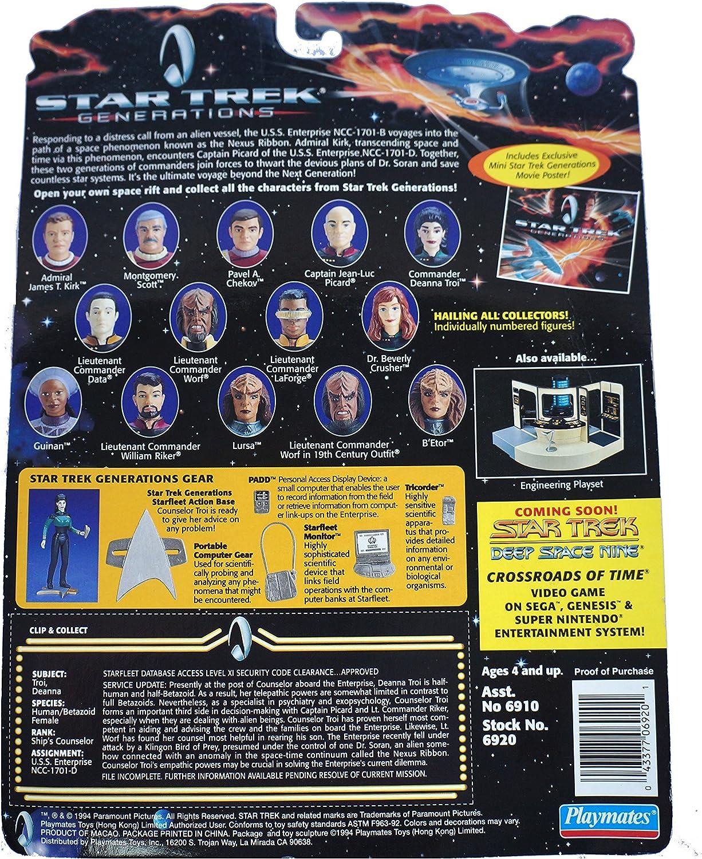 Star Trek Generations Commander Deanna Troi 4 inch Action Figure PLAYMATES SG/_B000BL0EVI/_US