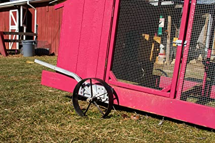 Easy way to mobilize your home chicken coop. Steel Wheels for Chicken Coop