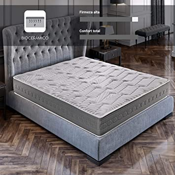 ROYAL SLEEP Colchón viscoelástico Carbono 150x190 firmeza Alta, Gama Alta, Efecto regenerador, Altura 25cm - Colchones Ceramic Plus: Amazon.es: Hogar