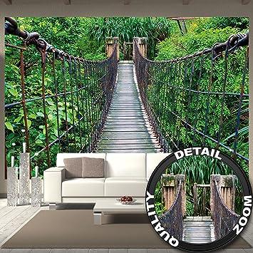 Fototapete tropen  Fototapete Hängebrücke Wandbild Dekoration Dschungel Landschaft ...