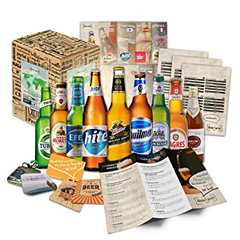 "Set of 9 world beers Beers from all over the world"" l Gift box for"