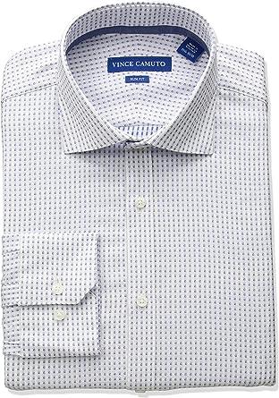 Vince Camuto Hombre VD511S-V0357 Cuello Tipo Italiano Manga Larga Camisa de Vestir: Amazon.es: Ropa y accesorios