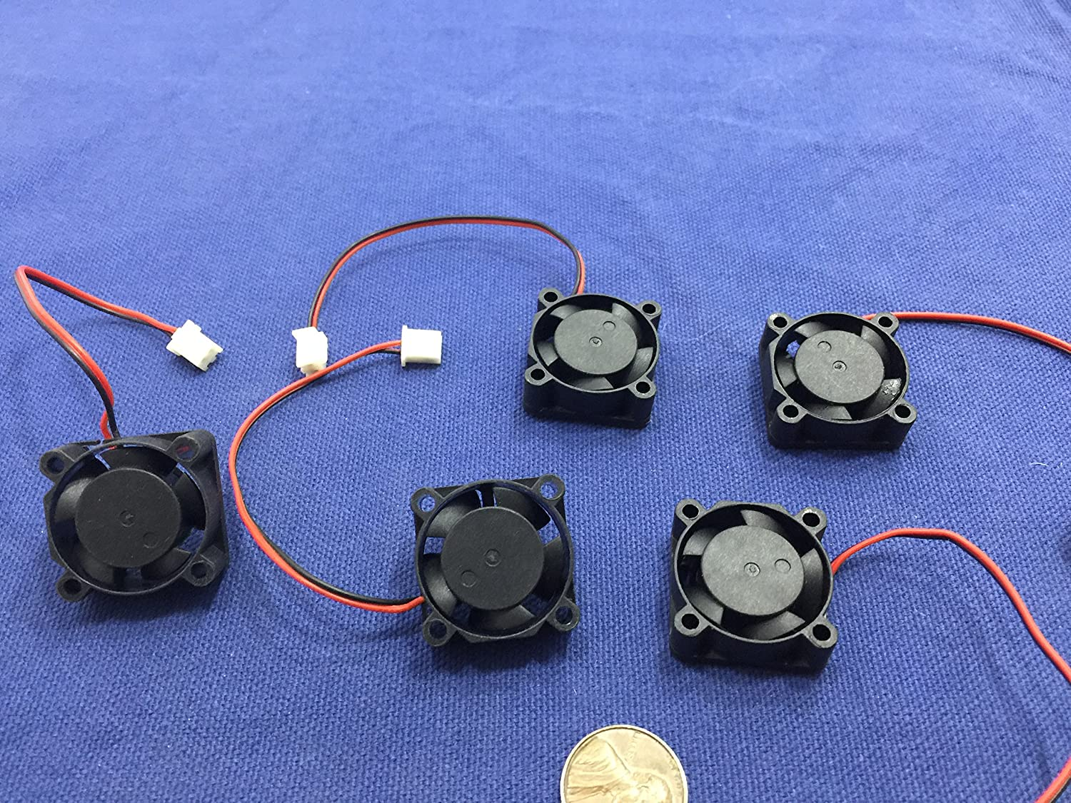 6 Pieces 24v Fan 25mm x 25 x 10 Brushless Cooling  small micro Flow CFM B18