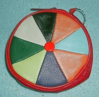 Monedero llavero porta monedas redondo colorido estilo ...