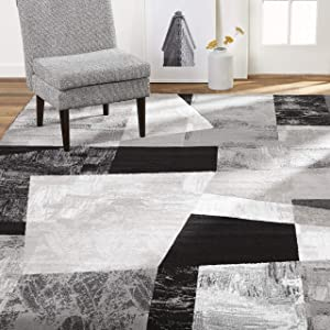 "Home Dynamix Catalina Bismark Contemporary Geometric Area Rug, 7'10""x10'2"" Rectangle, Gray"