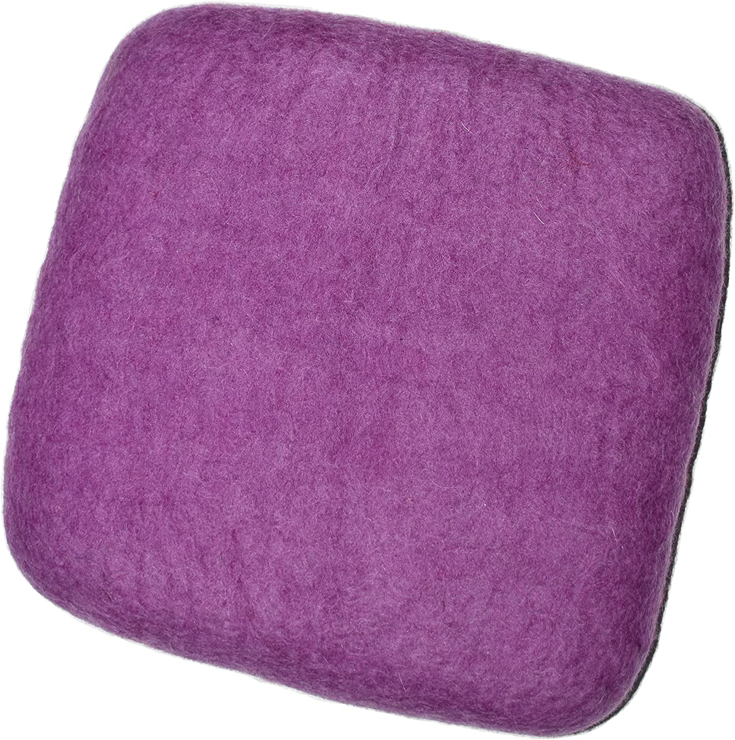 "100% Woolen Needle Fetling Mat | Eco-Friendly Natural Wool Needle Felting (9"" x 9"", Purple) A1uHVxQrhGL"
