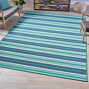 Christopher Knight Home Jitske Indoor Geometric 8 x 11 Area Rug, Blue/Green