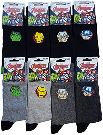 Avengers. - Medias de fútbol - para hombre multicolor Pack de 6 asst1: Amazon.es: Ropa y accesorios
