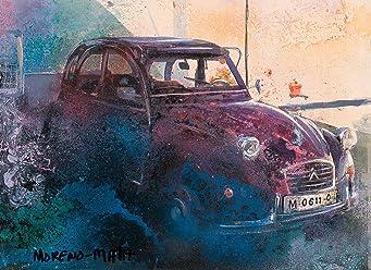 Citroën 2CV Voiture Classique Peinture Originale Faite À La Main