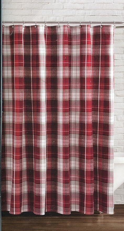 Winter Wonderland Retreat Plaid Fabric Shower Curtain