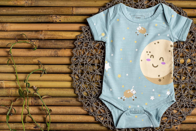 SIMMA Body para Reci/én Nacidos para Ni/ños o Ni/ñas Unisex Pack De 3 Ropa De Bamb/ú Org/ánico En Una Caja De Regalo
