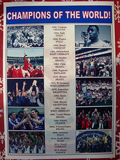 54baf7bc9 Amazon.com  Sports Prints UK FIFA football World Cup winners 1930 ...