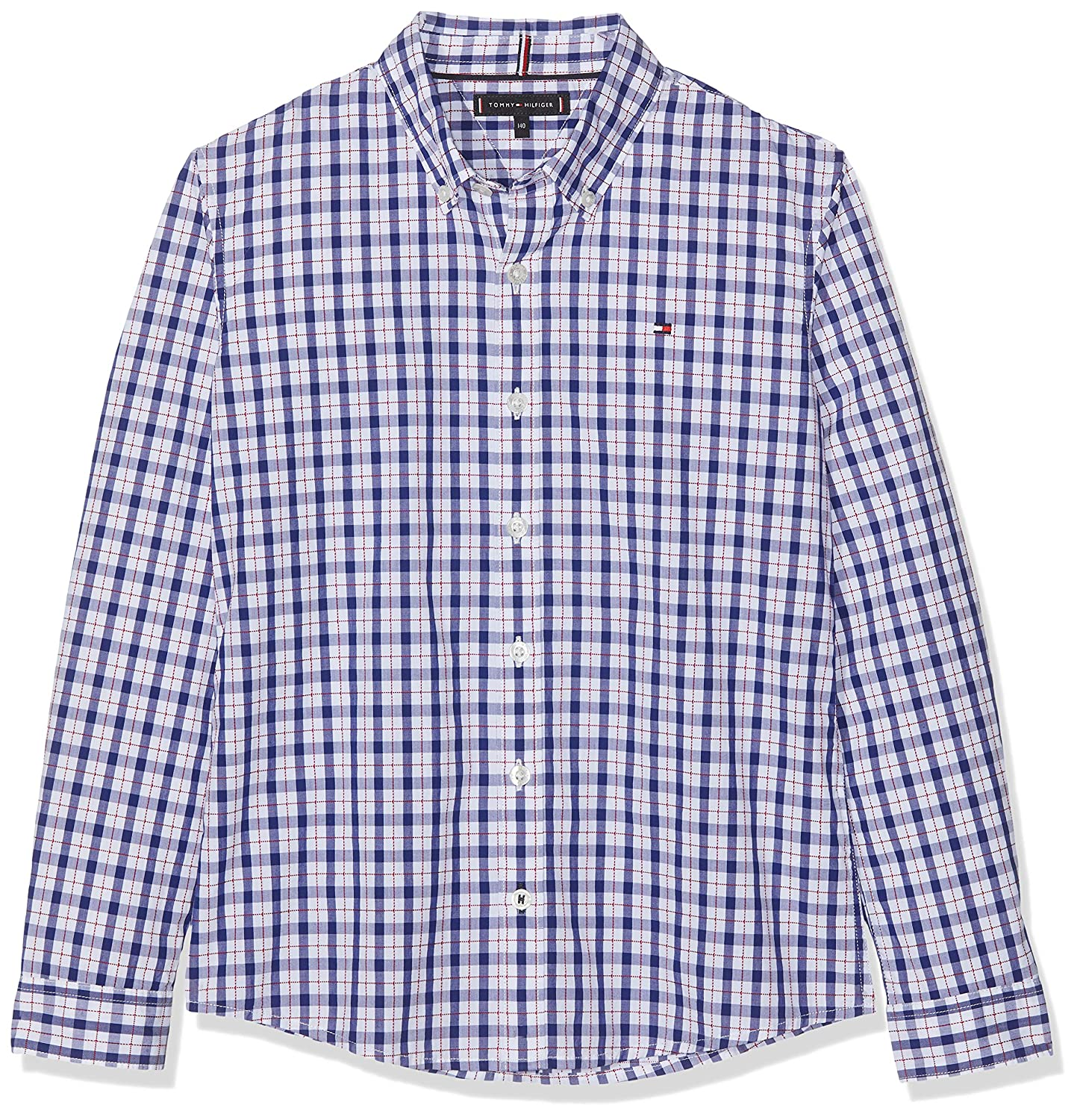 Tommy Hilfiger Boys Dobby Check Shirt L//S Blouse