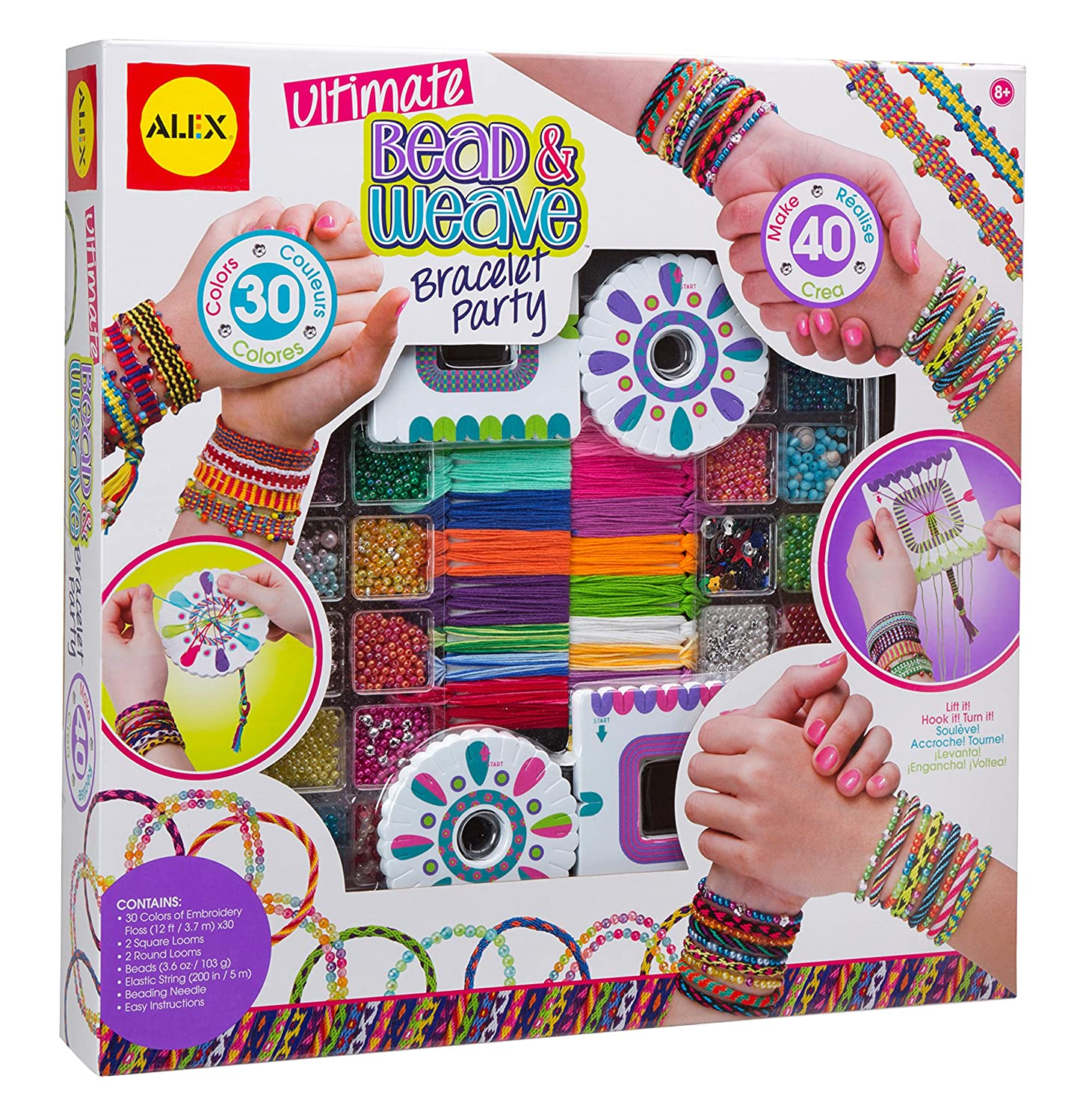 Amazon alex toys diy wear ultimate bead and weave bracelet amazon alex toys diy wear ultimate bead and weave bracelet party toys games solutioingenieria Image collections