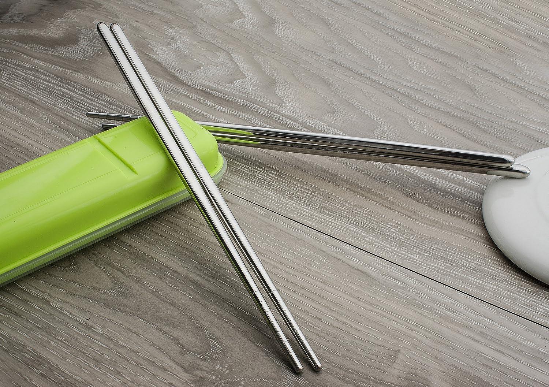 8.86 Inch 304 Stainless Steel Non-slip Chopsticks YC Modern 10 Pairs Chopsticks