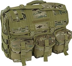 Mercury Tactical Gear Code Alpha Computer Messenger Bag with Molle Pouches, Multicam